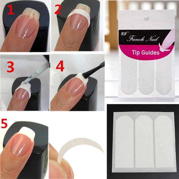 51Pcs Nail Art Striping Line French Manicure Guide Tips Stickers