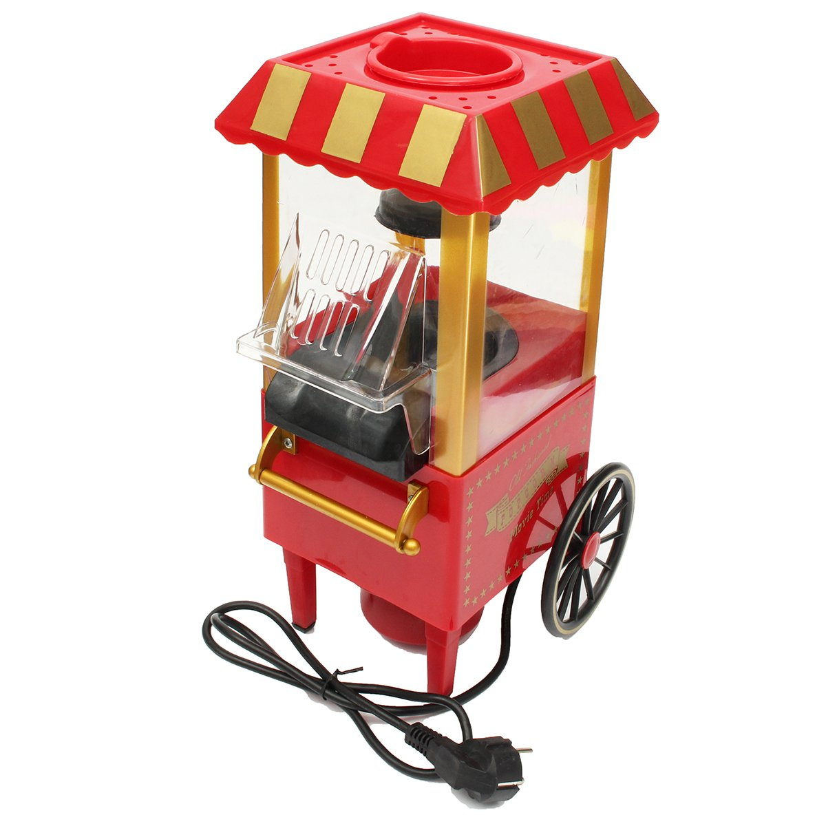 220V EU Plug Intage Retro Electric Popcorn Maker Popper Tabletop Machine