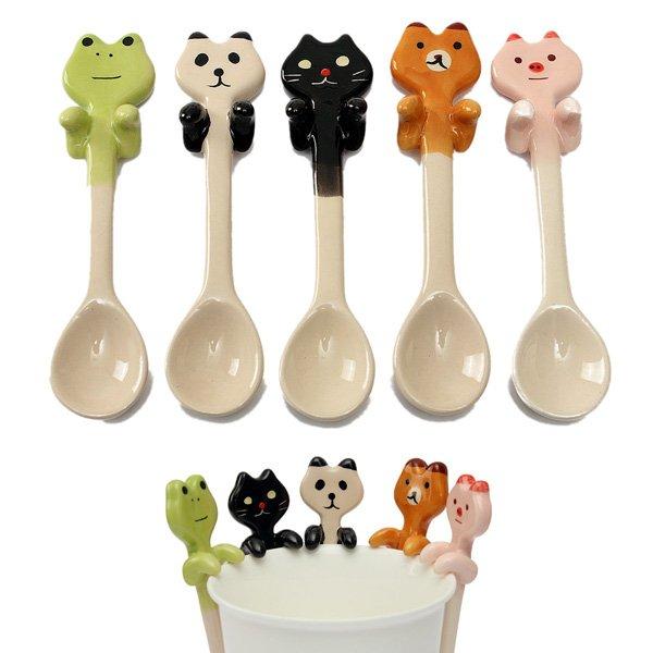 Animal Ceramic Hanging Tea Soup Spoon Panda