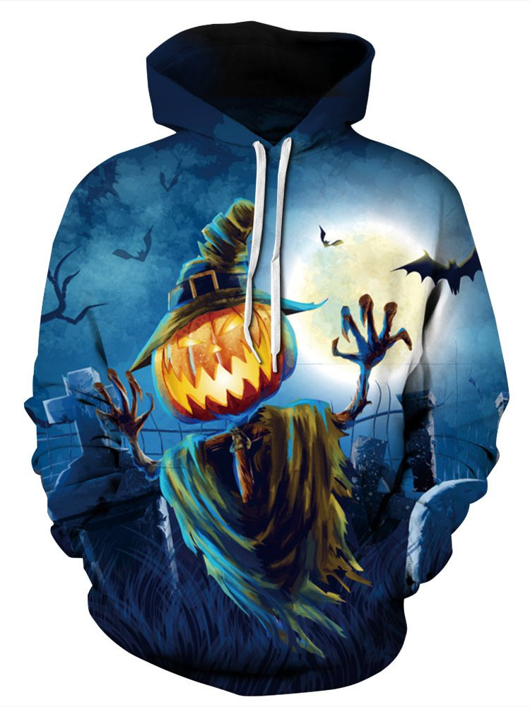 Halloween Pumpkin Pattern Women Hoodie Sweatshirt Medium