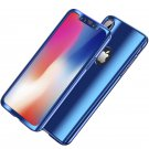 Bakeey Plating 360° Full Body Case+Tempered Glass Film For iPhone BLUE iPhone  7/8