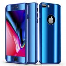 Bakeey Plating 360° Full Body Case+Tempered Glass Film For iPhone BLUE iPhone XS