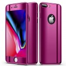 Bakeey Plating 360° Full Body Case+Tempered Glass Film For iPhone VIOLET iPhone XS