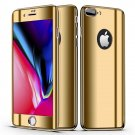 Bakeey Plating 360° Full Body Case+Tempered Glass Film For iPhone Gold iPhone 7/8