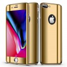 Bakeey Plating 360° Full Body Case+Tempered Glass Film For iPhone Gold iPhone 7 Plus/8 Plus
