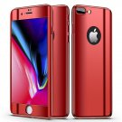 Bakeey Plating 360° Full Body Case+Tempered Glass Film For iPhone Red iPhone X