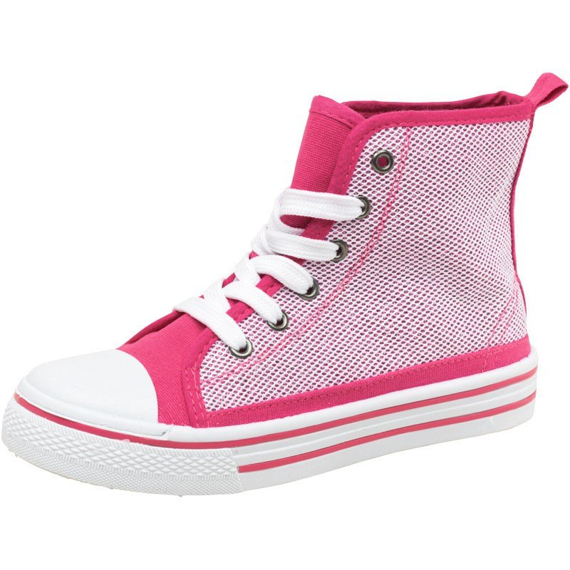 Board Angels Girls Snake Effect Hi Tops Pink NEW