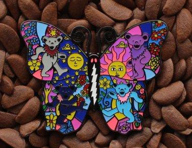 Grateful Dead Hat Pins Butterfly Bears Lighting Bolt Pin