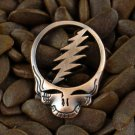 Grateful Dead Pin Stealie Cut Out Lightning Bolt Steal Your Face 1 Inch