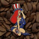 Jessica Rabbit Pins Fantasy Uncle Sam Patriotic USA Flag Pin