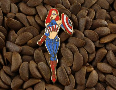 Jessica Rabbit Pins Captain America The Avengers Pin