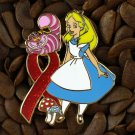 Red Ribbon Pins Alice & Cheshire Cat Pin