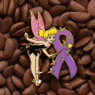 Purple Ribbon Pins Angel Tinkerbell Tinker Bell Pin