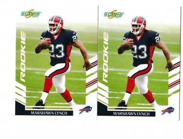 NEW Seattle Seahawks Marshawn Lynch NFL 2007 Score rookie cards lot
