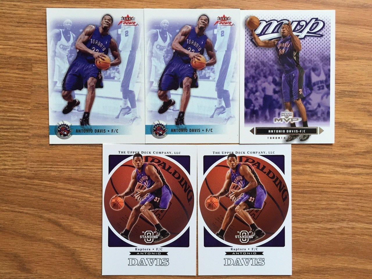 Toronto raptors Antonio Davis basketball cards lot - $4 Free Shipping