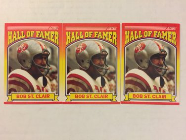 Hall fo Fame San Francisco 49ers Bob St. Clair football cards lot sale - Free shipping