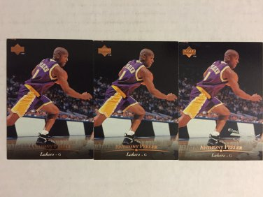 Los Angeles Lakers Anthony Peeler basketball cards lot - Free shipping