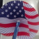 Paper Fans, Decorative, Hand Held, Patriotic American Flag design