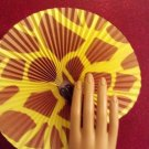 Paper Fans, Decorative, Hand Held, Giraffe theme