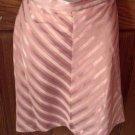 Ladies Skirt, LaBelle Fashions, Mauve stripes, Size 7/8
