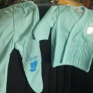 """Kitty"" Infant pajamas with footies, Blue, two piece, long sleeves, Size:6-9 Months"