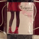 Girl's Spider Web design hosiery, Enchanted Costumes Size: medium/large Color: Black