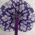 Paper Fans, Decorative, Hand Held, Purple Hibiscus