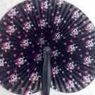 Paper Fan, Pink Pirate girl, skull & crossbones, Punk, Gothic
