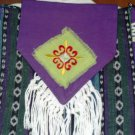 Free Spirit  purse, Purple Pizazz, cross-body with multicolor stripes