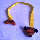 Stuffed Tiger bookmark with yellow colored ribbon