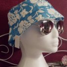 Blue Hibiscus flower design bucket hats, junior/Ladies size