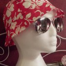 Red Hibiscus flower design bucket hats, junior/Ladies size