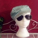 Newsboy style cap, baby blue, sequined, OSFM, Beauties Brand