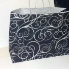 Black/White Elegant Swirls, Gift Bags