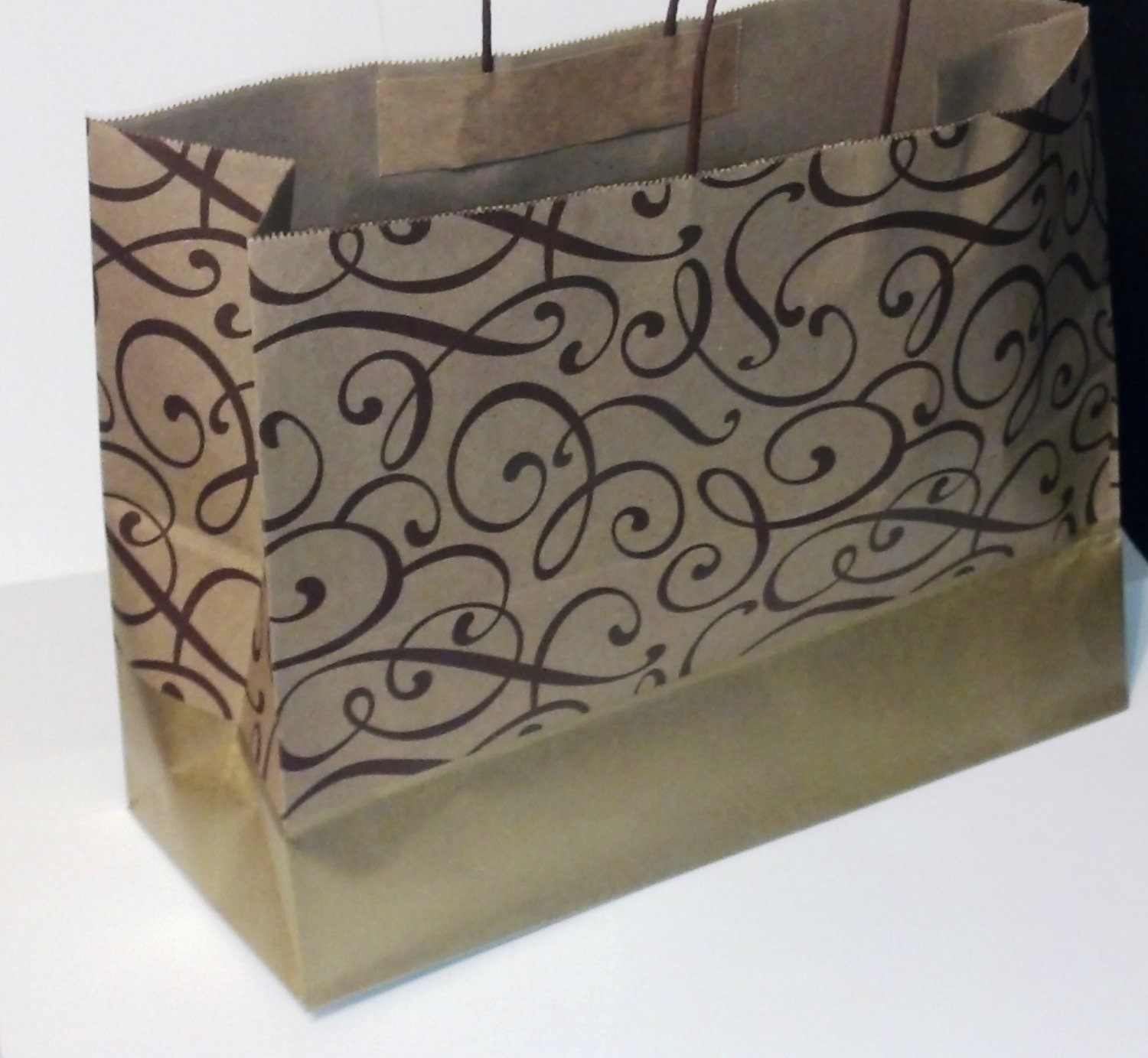 Chocolate/Matte Gold Gift Bags