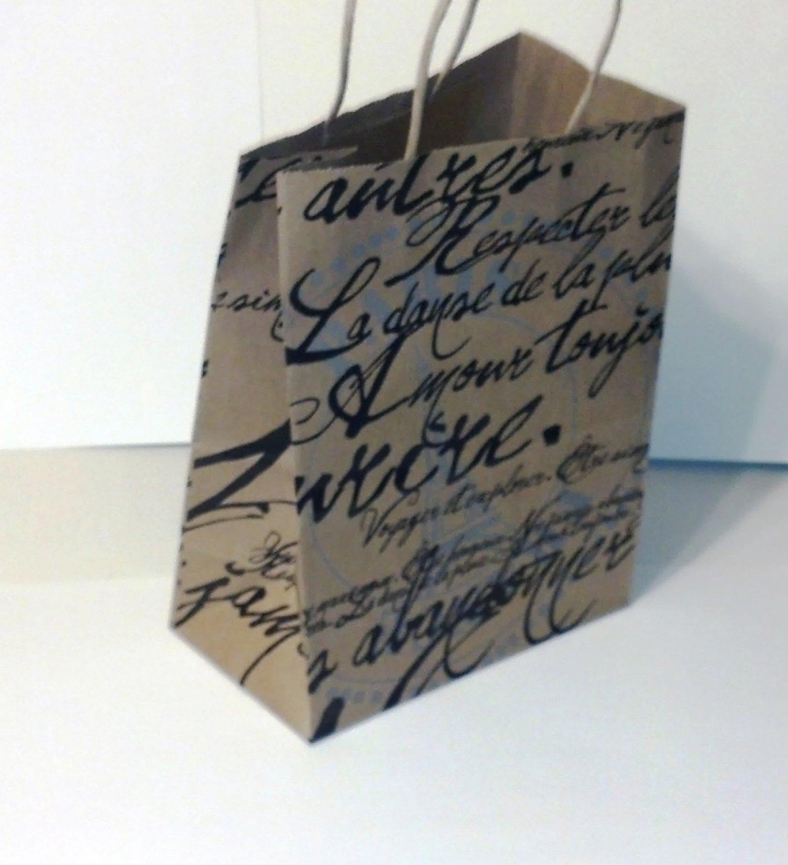 Paris Script gift bags