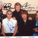 DEEP PURPLE   Signed Autograph 8x10  Picture Photo REPRINT