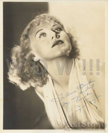 Gorgeous GINGER ROGERS Signed Autograph 8x10 inch. Picture Photo REPRINT
