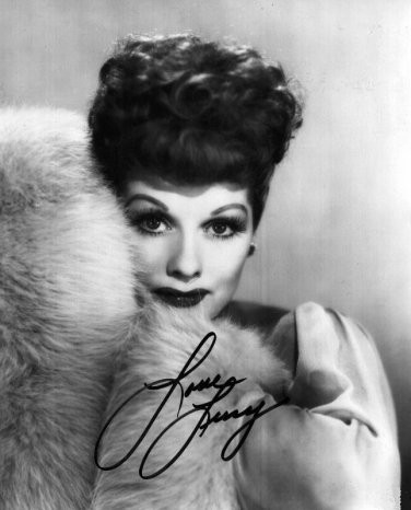 Gorgeous LUCILLE BALL Signed Autograph 8x10 Picture Photo REPRINT
