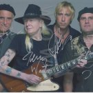 Original JOHNNY WINTER Band 8x10 SiP by ALL 4 Autograph Photo Picture