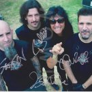 Original ANTHRAX  8x10 Signed in Person by ALL 4 Autograph Photo 1