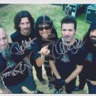 Original ANTHRAX  8x10 Signed in Person by ALL 4 Autograph Photo 2