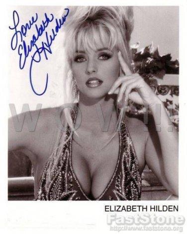 Gorgeous Elizabeth Hilden Signed Autograph 8x10 Inch Picture Photo