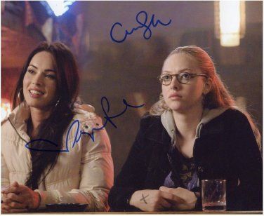 MEGAN FOX , AMANDA SEYFRIED Signed Autograph 8x10 Picture Photo REPRINT