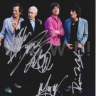 Original  The ROLLING STONES  8x10 Signed by ALL 4  Autographed  Photo Picture