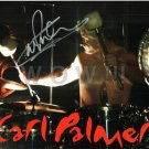 ORIGINAL Autographed SiPerson by CARL PALMER of ELP 11x17 Poster Picture