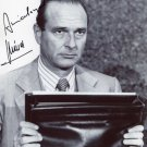 JAQUES CHIRAC  Signed Autograph 8x10 inch. Picture Photo REPRINT