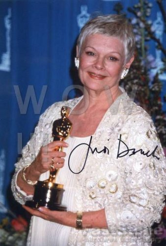 Gorgeous JUDITH OLIVIA DENCH Signed Autograph 8x10  Picture Photo REPRINT