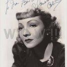 Original CLAUDETTE COLBERT 8x10 Signed  Autographed  Photo Picture