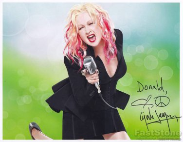 CYNDI LAUPER   Autographed signed 8x10 Photo Picture REPRINT